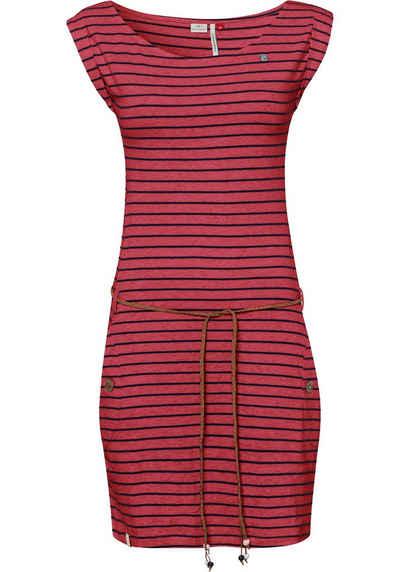 Ragwear Jerseykleid »TAG STRIPES O« (2-tlg., mit Bindegürtel) im Streifen-Ringel-Design