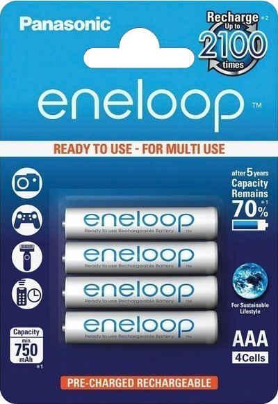 Panasonic »Eneloop Micro AAA HR03« wiederaufladbare Batterien, (4 St)