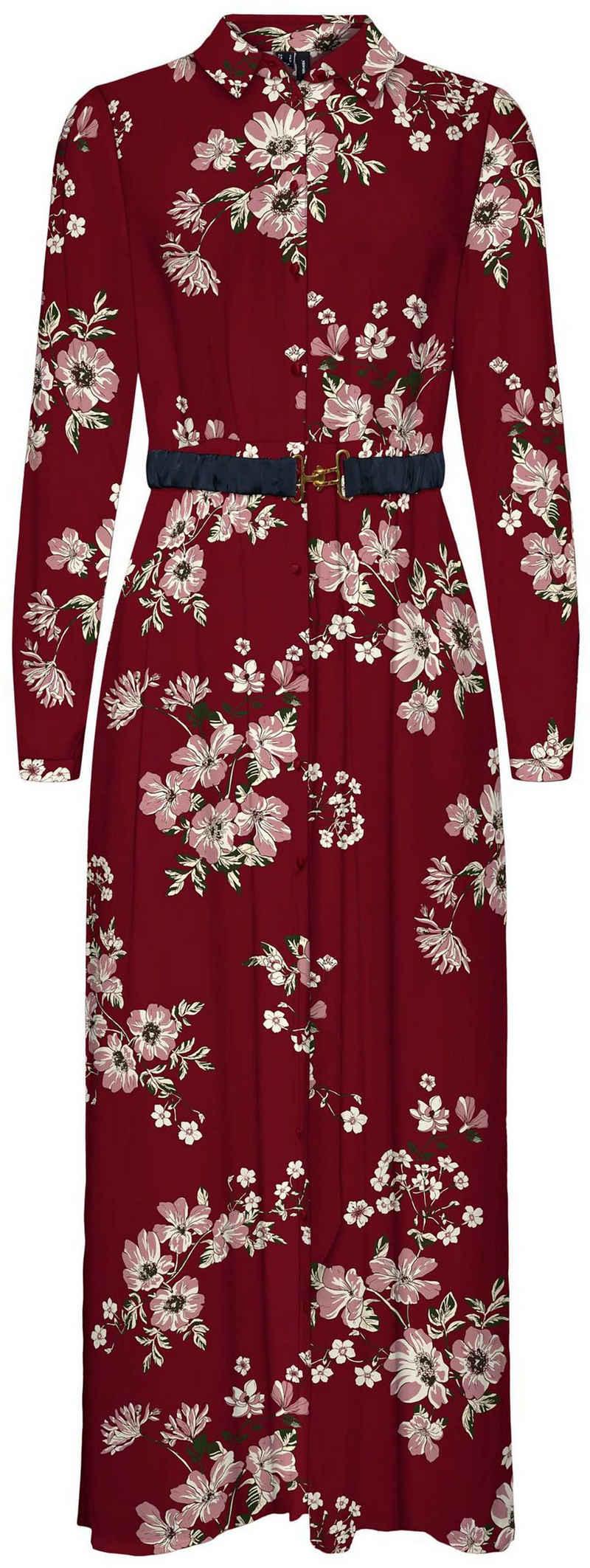 Vero Moda Hemdblusenkleid »VMROMA BELT L/S ANCLE DRESS«