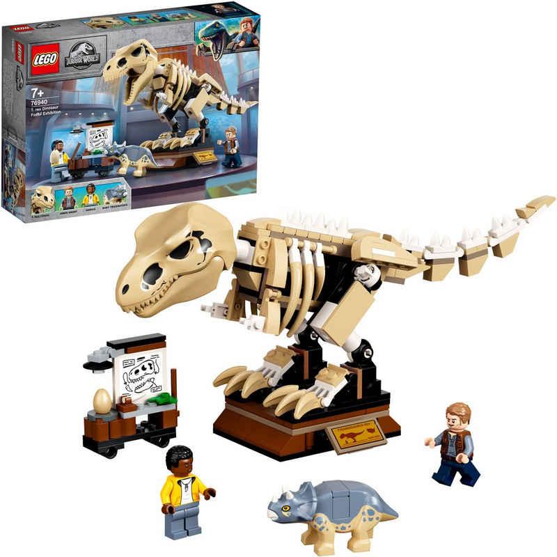 LEGO® Konstruktionsspielsteine »T. Rex-Skelett in der Fossilienausstellung (76940), LEGO® Jurassic World™«, (198 St)