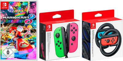 Nintendo Switch »Joy-Con 2er-Set« Wireless-Controller (inkl. Mario Kart 8 + Lenkrad-Paar)