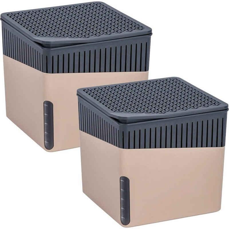 WENKO Luftentfeuchter Cube Grau, für 80 m³ Räume
