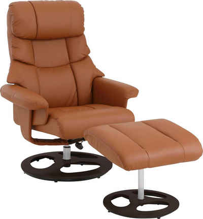 Home affaire Relaxsessel »Toulon« (2-St., Bestehend aus Sessel und Hocker), inklusive Hocker, mit manueller Relaxfunktion, auswählbar zwischen zwei unterschiedlichen Beingestellen, Sitzhöhe 45 cm