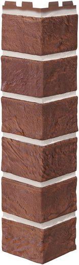 BAUKULIT Verblender »Solid Brick Dorset Außenecke«, Klinkerstruktur, 4er-Set
