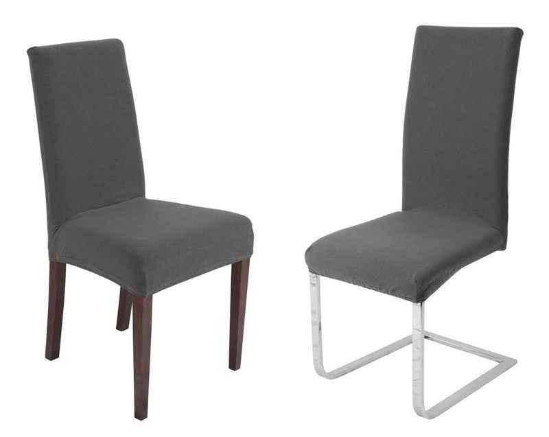 Stuhlhusse »Universal Stretch Stuhlhussen Sets von Beautex, elastische Husse Bi-Elastic, Simple, Farbe wählbar«, Beautex