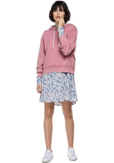 Replay Sweatshirt Crop-Sweater mit Kapuze