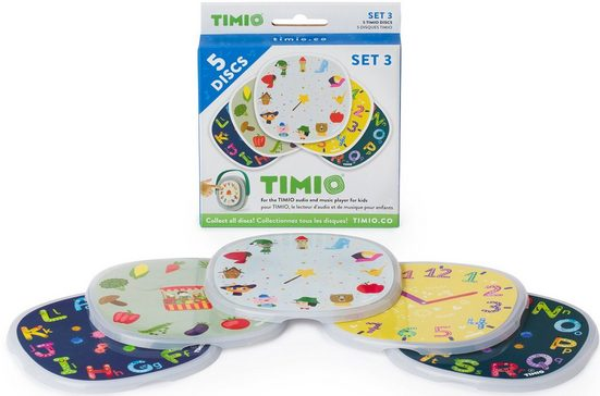 TIMIO Lernspielzeug »TIMIO Disc-Set 3«, magnetische Audio-Discs für den TIMIO Player