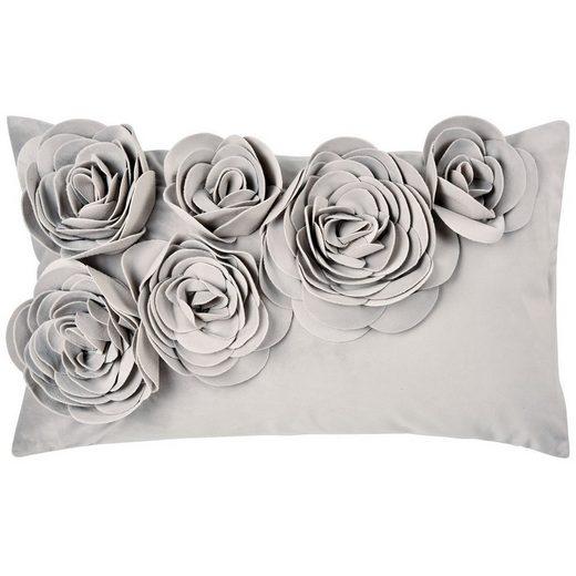 PAD Kissenhülle »Floral; Kissenhülle für Dekokissen, Zierkissen und Sofakissen«, mit Blütenapplikation