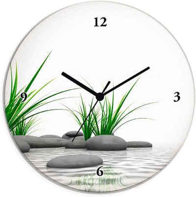 Artland Wanduhr »3 D Steine« (lautlos, ohne Tickgeräusche, nicht tickend, geräuschlos - wählbar: Funkuhr o. Quarzuhr, moderne Uhr für Wohnzimmer, Küche etc. - Stil: modern)