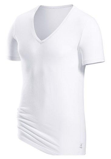 s.Oliver T-Shirt mit tiefem V-Ausschnitt