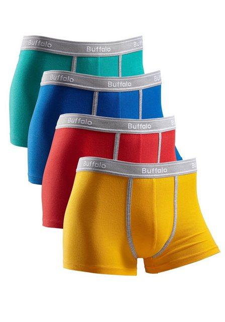 Herren Buffalo Hipster (4 Stück) mit kontrastfarbenem Bund und Pipings bunt,mehrfarbig | 04893962197996