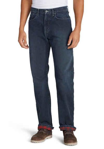 Eddie Bauer 5-Pocket-Jeans Flex mit Flanellfutter - Straight Fit