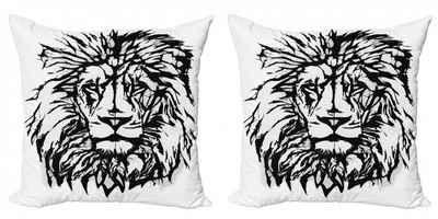 Abakuhaus Kissenbezug »Modern Accent Doppelseitiger Digitaldruck«, Löwe Savannah Wildlife-Muster