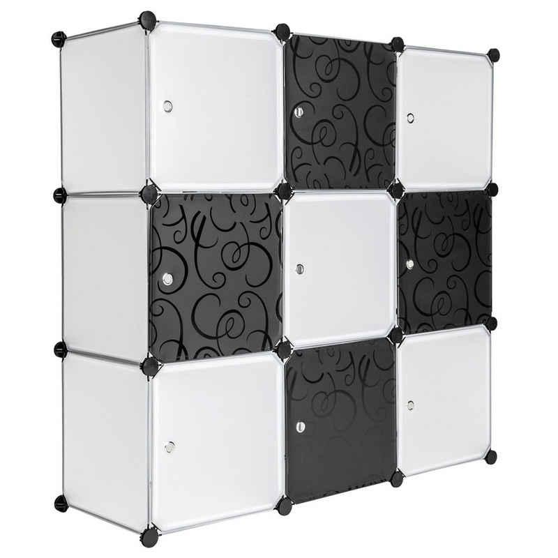 tectake Regalwürfel »Steckregal 9 Boxen mit Türen«, 1-tlg.