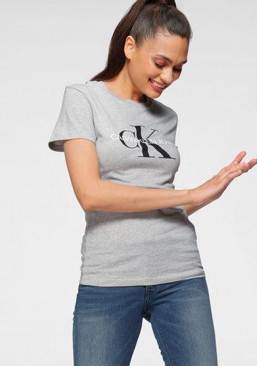 Calvin Klein Jeans Rundhalsshirt »CORE MONOGRAM LOGO REGULAR FIT TEE« mit großem CK Logo-Print
