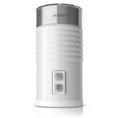 Arendo Milchaufschäumer, 435 W, automatischer Milchaufschäumer mit Warm und Kaltaufschäumen