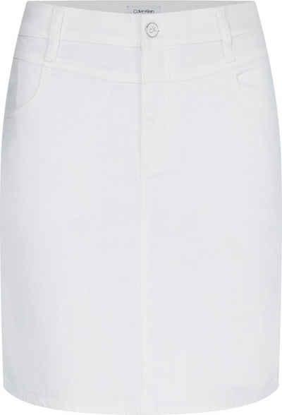 Calvin Klein Jeansrock »MID RISE DENIM MINI SKIRT« mit kleiner Passe vorn