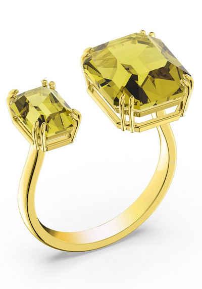 Swarovski Fingerring »Millenia Cocktail Ring, Kristalle im Quadrat Schliff, 5610389,5609002/-0916/-8997,5610388«, mit Swarovski® Kristall