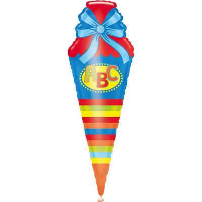 Amscan Folienballon »XXL-Folienballon Schultüte, blau«