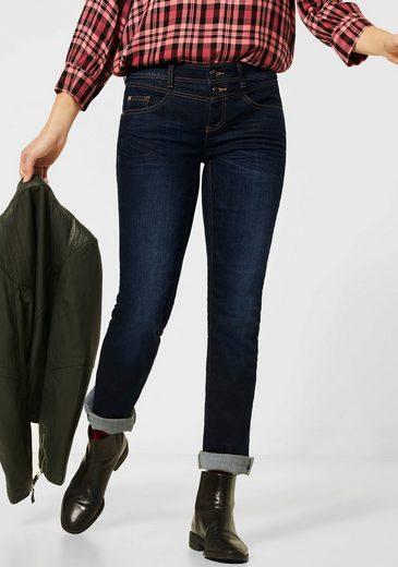 STREET ONE Slim-fit-Jeans »lowa« mit cooler Nietenapplikation