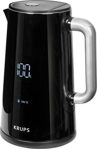 Krups Wasserkocher Smart'n Light BW8018, 1,7 l, 1800 W, mit Digitalanzeige; 5 Temperaturstufen; One-Touch-Bedienung; 360°-Sockel; Automatische Abschaltung