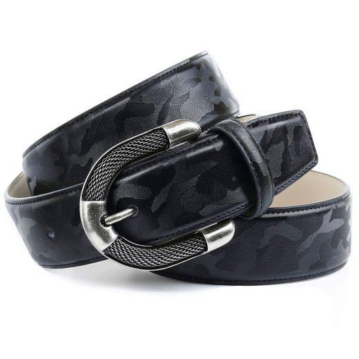 Anthoni Crown Ledergürtel mit aufwendiger Schmuck-Schließe