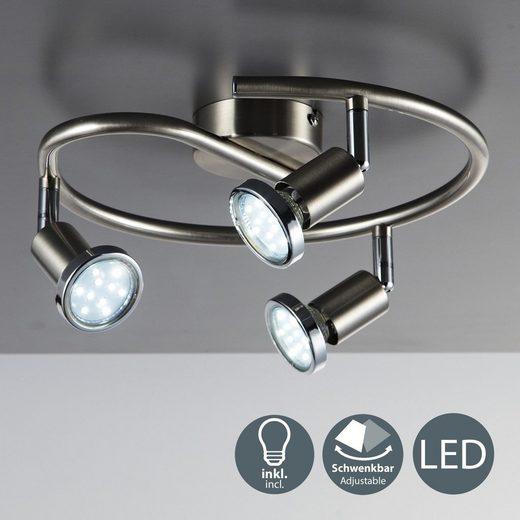 B.K.Licht LED Deckenspots »Mika 3«  GU10  Wohnzimmer  warmweiß