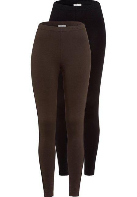 Hosen - Boysen's Leggings (Packung, 2er Pack) Packung mit trendiger Seitennaht und aus nachhaltigem Baumwoll Mischgewebe › schwarz  - Onlineshop OTTO