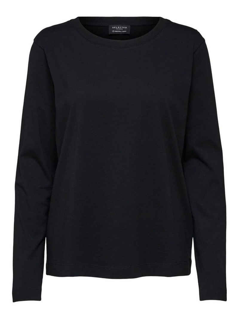 SELECTED FEMME T-Shirt »3831« (1-tlg) SELECTED Damen Basic Pullover SLFSTANDARD Dünner Baumwolle Longsleeve