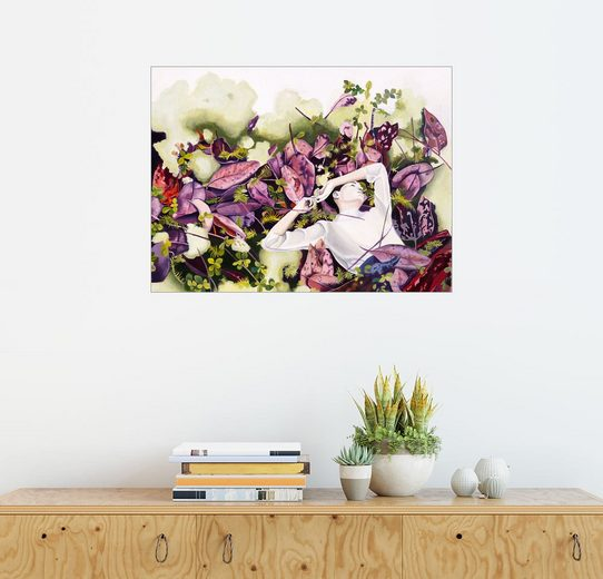 Posterlounge Wandbild, Unter Blättern