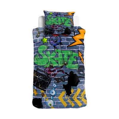Jugendbettwäsche »Graffiti«, ESPiCO, Digitaldruck, Skateboard, Musik