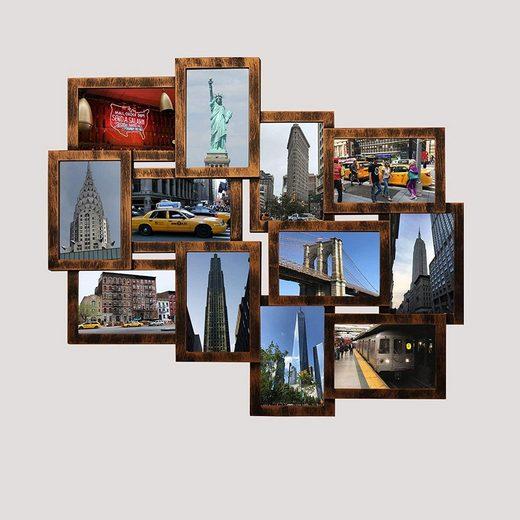 empireposter Bilderrahmen Collage »Collage Helsinki Kupfer«
