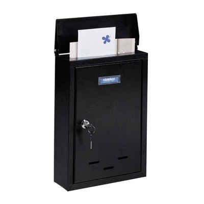 relaxdays Briefkasten »Briefkasten mit Namensschild«