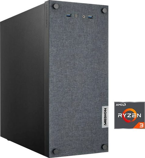 Medion® PC E33003 AKOYA MD34849 Gaming-PC (AMD Ryzen 3 3200G, Radeon Vega 8, 16 GB RAM, 512 GB SSD, Luftkühlung)