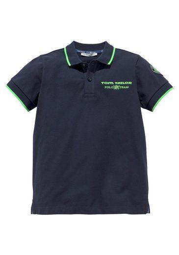 TOM TAILOR Polo Team Poloshirt mit Stickerei und Applikation