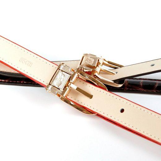 Anthoni Crown Ledergürtel mit dekorativer Metallschlaufe