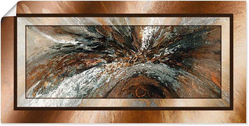 Artland Wandbild »Gold Abstrakt 1«, Gegenstandslos (1 Stück), in vielen Größen & Produktarten - Alubild / Outdoorbild für den Außenbereich, Leinwandbild, Poster, Wandaufkleber / Wandtattoo auch für Badezimmer geeignet