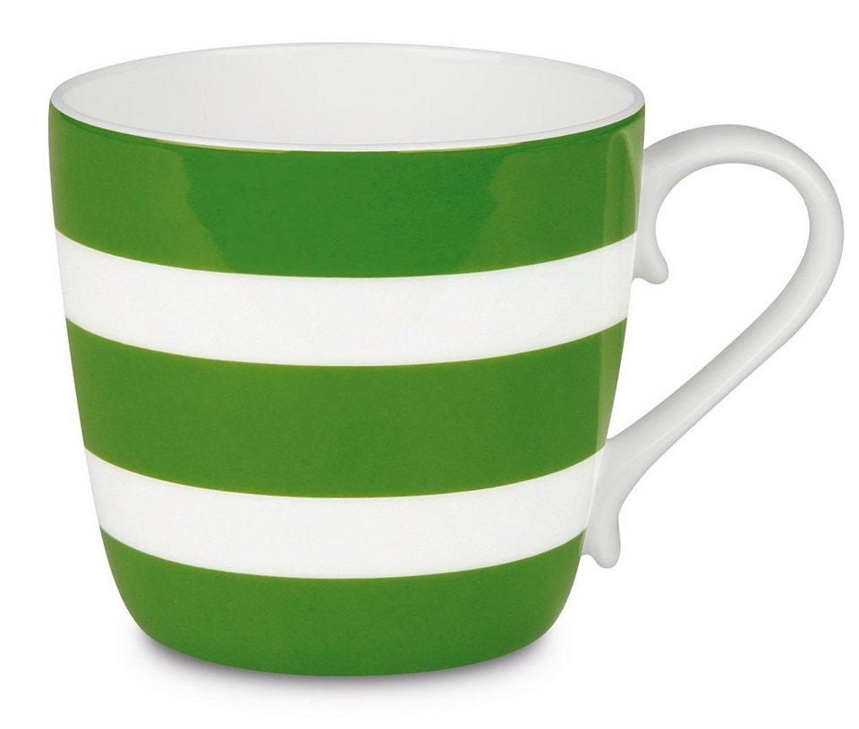 Könitz Becher - Polka Stripes »Colours« in Apfelgrün