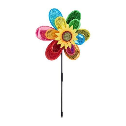 relaxdays Windrad »Windrad Blume«