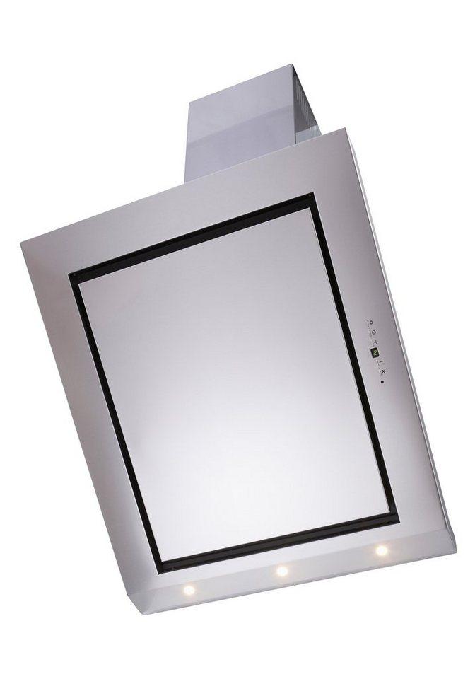 Glasschirm-Dunstabzugshaube in 60, 80 und 90 cm in edelstahlfarben
