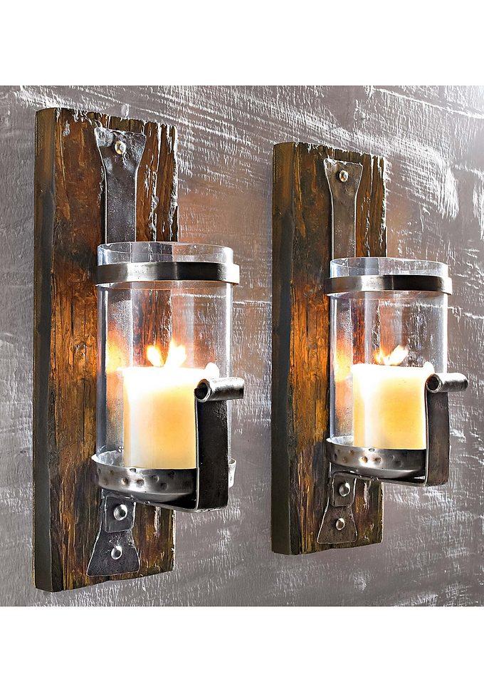Wand-Kerzenhalter »Wood«
