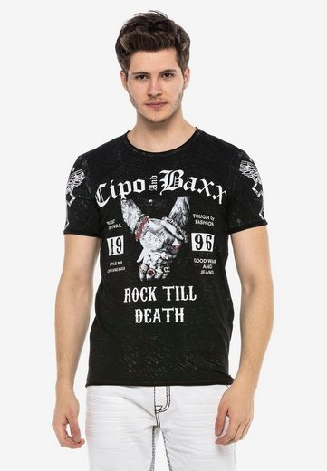 Cipo & Baxx T-Shirt »TOUGH GUY« mit grafischem Print
