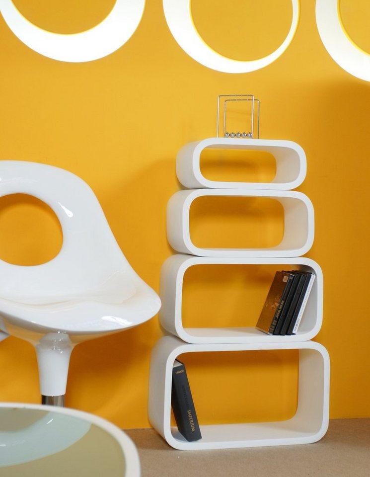 salesfever 4 space age lounge retro cuben regale oval. Black Bedroom Furniture Sets. Home Design Ideas