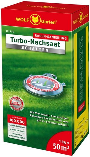 WOLF-Garten Rasensamen »LR-S 50 Turbo-Nachsaat SCHATTEN«, 1,0 kg