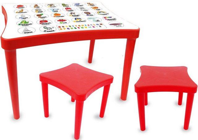 Sitzmöbel - Jamara Kindersitzgruppe »Easy Learning, rot«, (3 St)  - Onlineshop OTTO