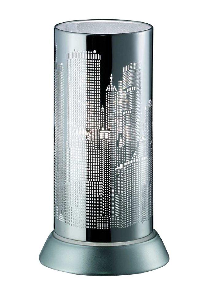 Tischlampe, Trio in Folie weiß