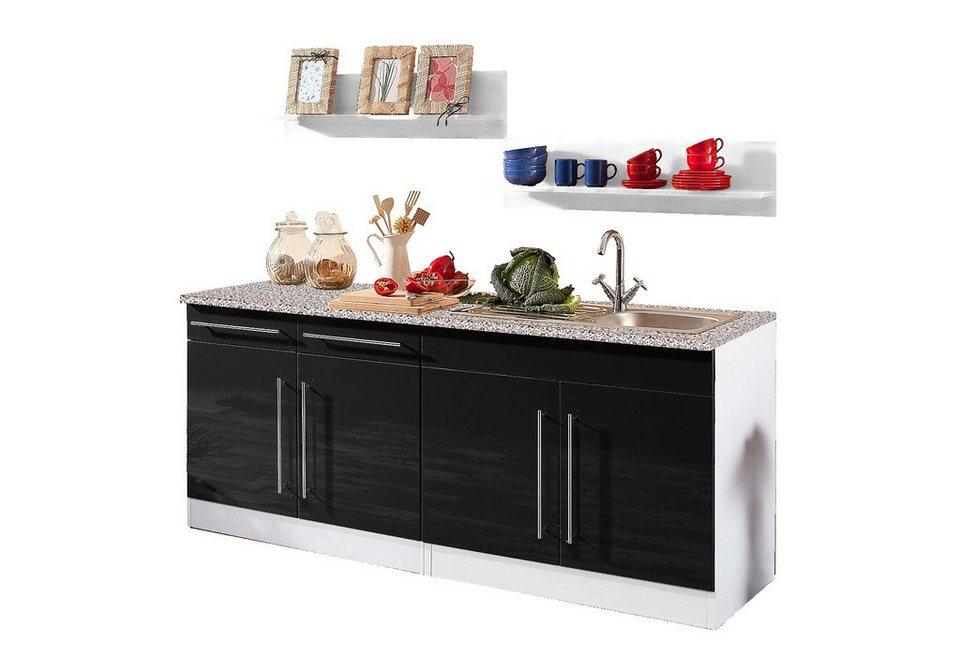 HELD MÖBEL Küchenzeile »Keitum« ohne Elektrogeräte, Breite 200 cm ...