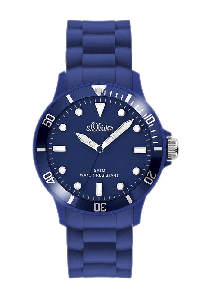 s.Oliver RED LABEL Quarzuhr »SO-2577-PQ« in blau