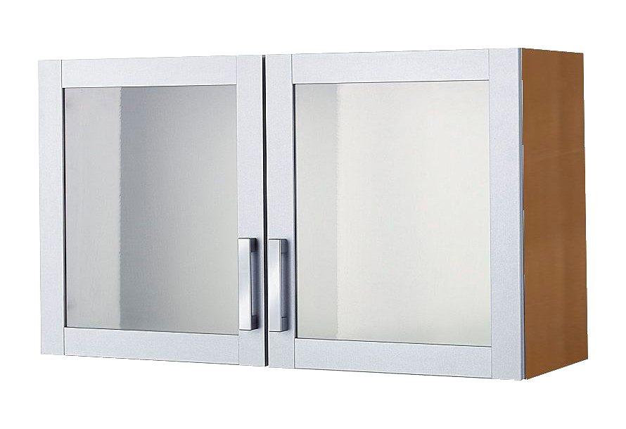 Glashängeschrank, Held Möbel, »Tinnum«, Rahmen alufarben in Korpus buchefb.