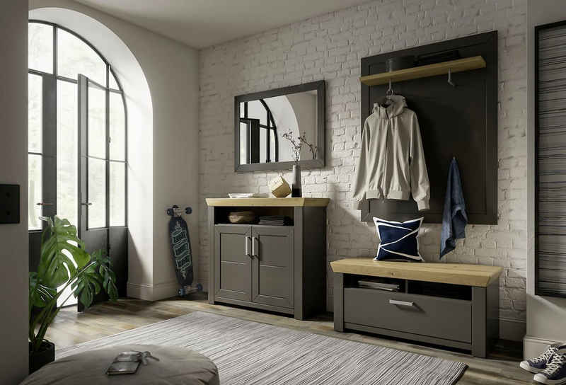 set one by Musterring Garderoben-Set »GA York Kombi 56«, (Set, 4-St), mit Garderobenpaneel und Spiegel